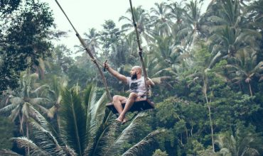 Bali swing, Bali, swing, official, ubud, jungle, giant, nest, canyon, waterfall, tree canopy, park, attraction, heart-shaped rock, helicopter, instagram, insta, photos, pics, floaty dress hire, buffet lunch, tropical, hanging